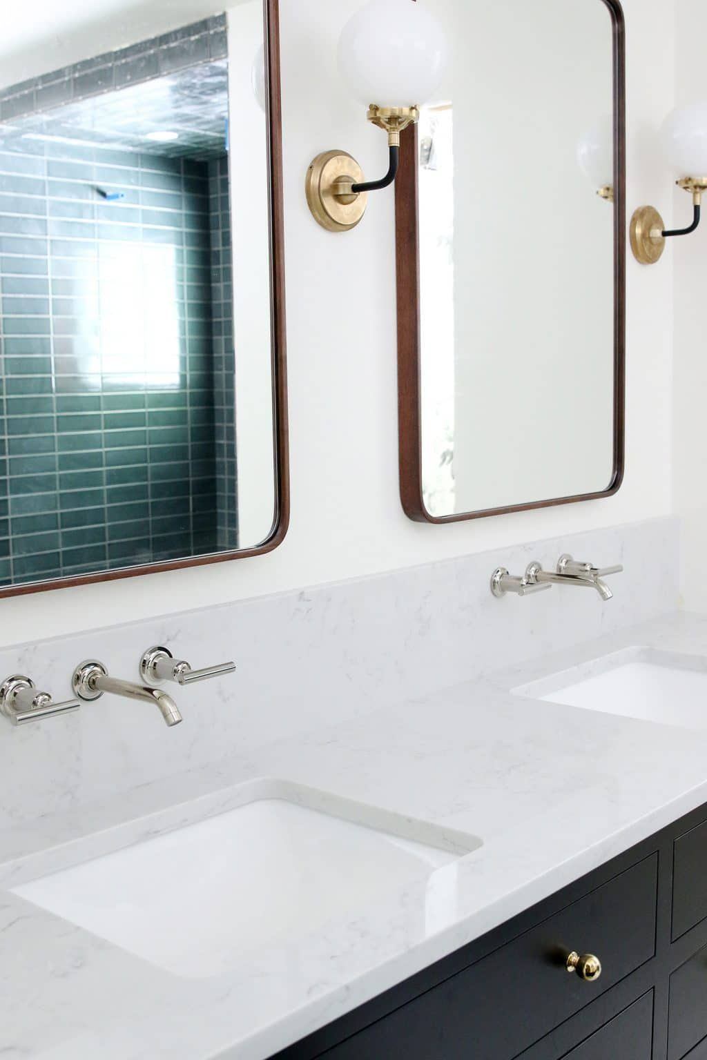Our Undermount Bathroom Sink Wall Mount Faucets Installed Wall