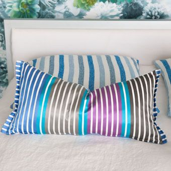 Designers Guild - Striped throw pillow.