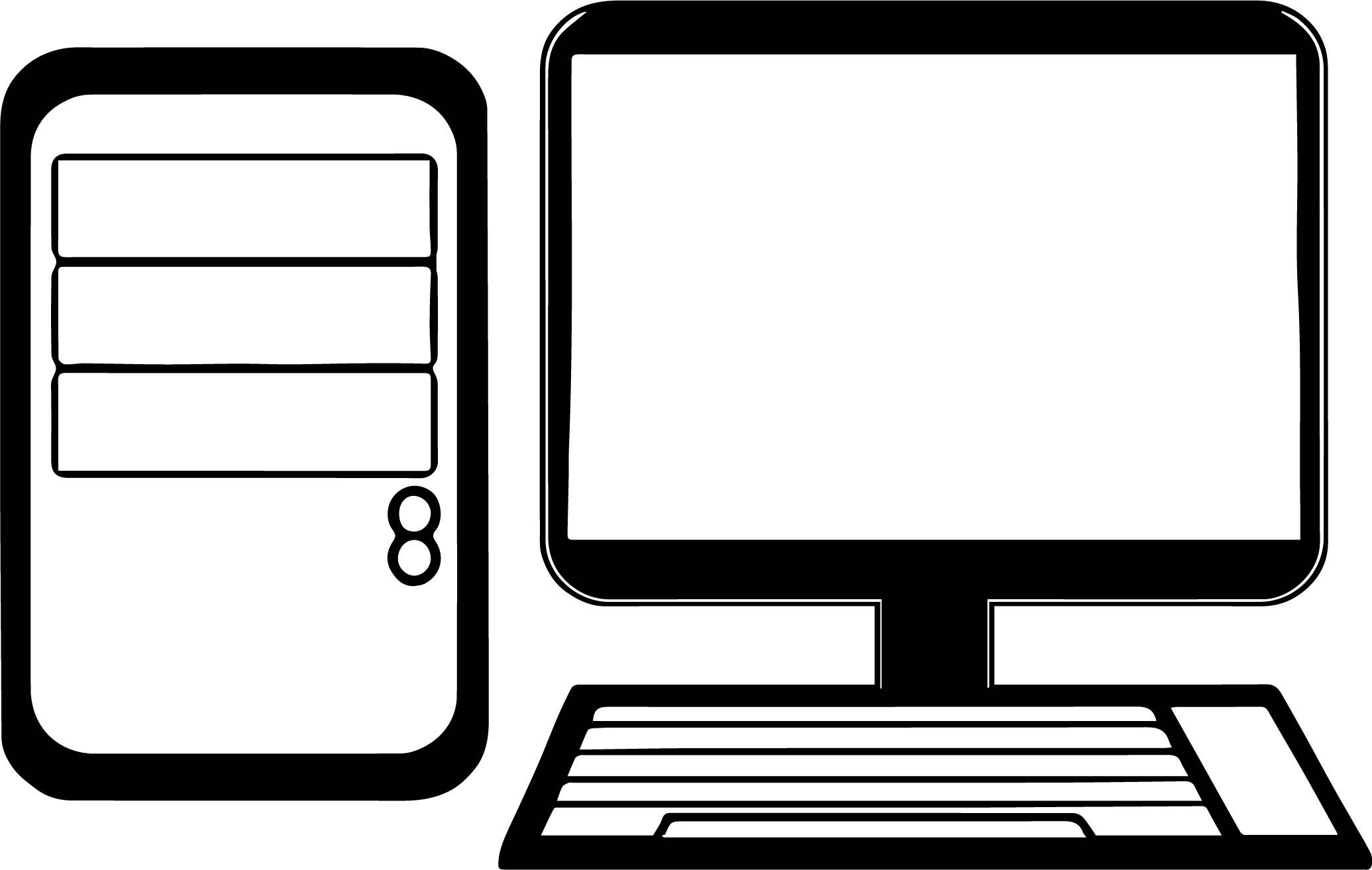 Cool Desktop Computer Coloring Page Desktop Computers Computer Logo Computer Education