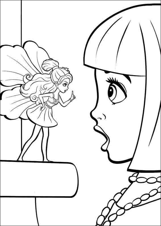 Dibujos para Colorear Barbie Pulgarcita 12 | Dibujos para colorear ...