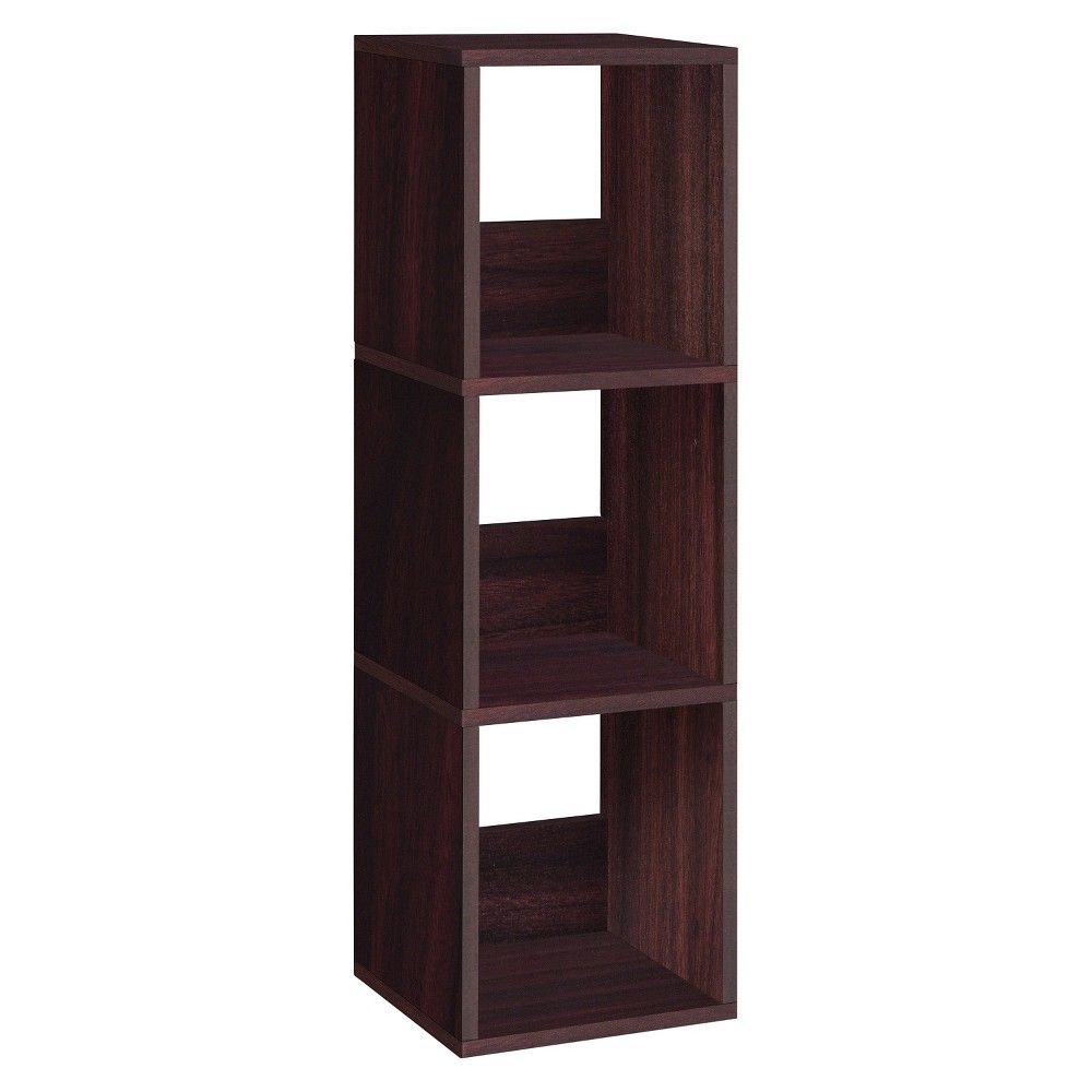 Way basics shelf trio narrow bookcase eco storage shelf