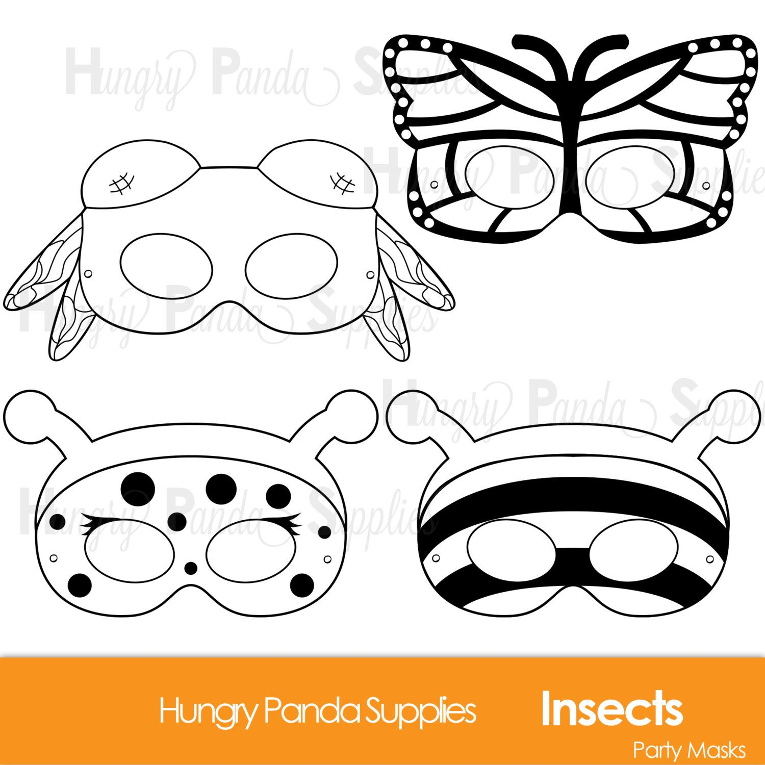 Insects Printable Coloring Masks