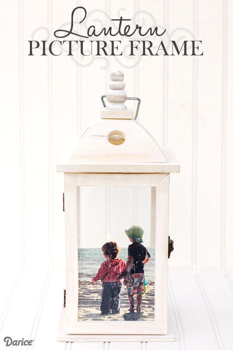 Diy picture frame idea unique lantern frame darice craft diy picture frame idea unique lantern frame darice jeuxipadfo Images