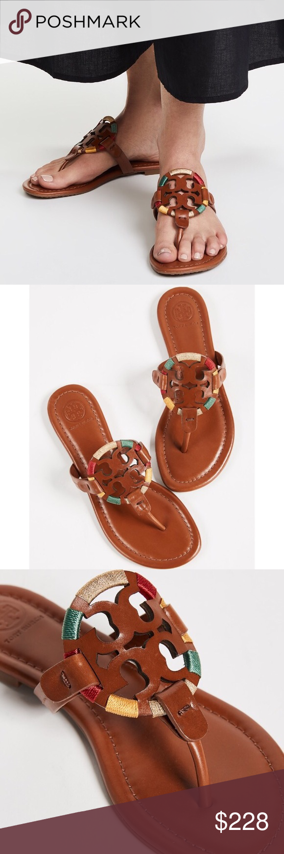 0a7c3471d2a9 Tory Burch ❉ Embroidered Miller Sandals ❉ Tory Burch Embroidered Miller  Sandals in