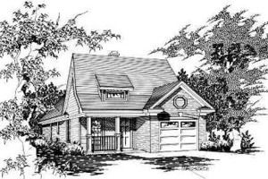 Traditional Style House Plan  3 Beds 2 Baths 1040 Sq/Ft Plan #329-207  Housepl
