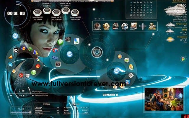 3D launcher and Hacker Themes Skin For Windows 2015 ...
