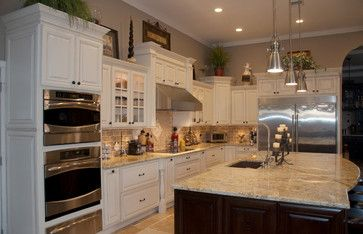 Designed By KabCo Kitchens In Florida, This Space Features Showplace Maple.  Soft Cream Paint