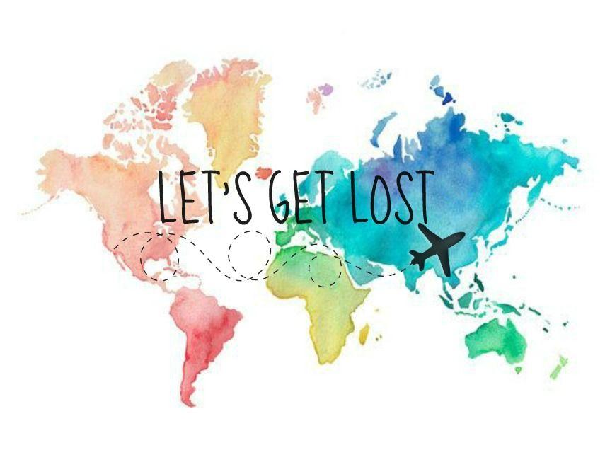 Let S Get Lost Aquarell Karte Wunderschone Kunst Zeichenvorlagen