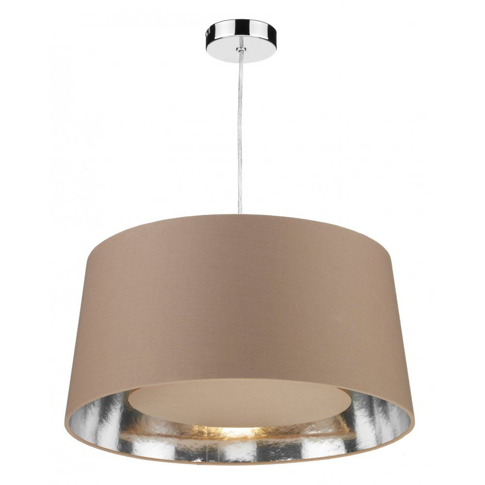 Lamp Shades For Ceiling Lights: The Lighting Book BUGLE Easy Fit Taupe Ceiling Light Shade