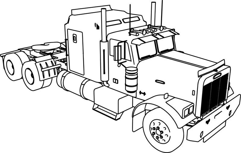 Freightliner Aerodyne Tir Long Trailer Truck Coloring Page Truck Coloring Pages Tractor Coloring Pages Cars Coloring Pages