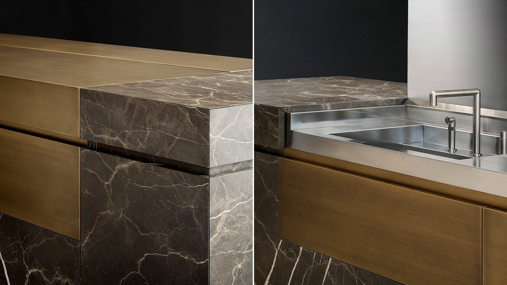 Natural stone kitchen with island NEOLITE by TM Italia Cucine design ...