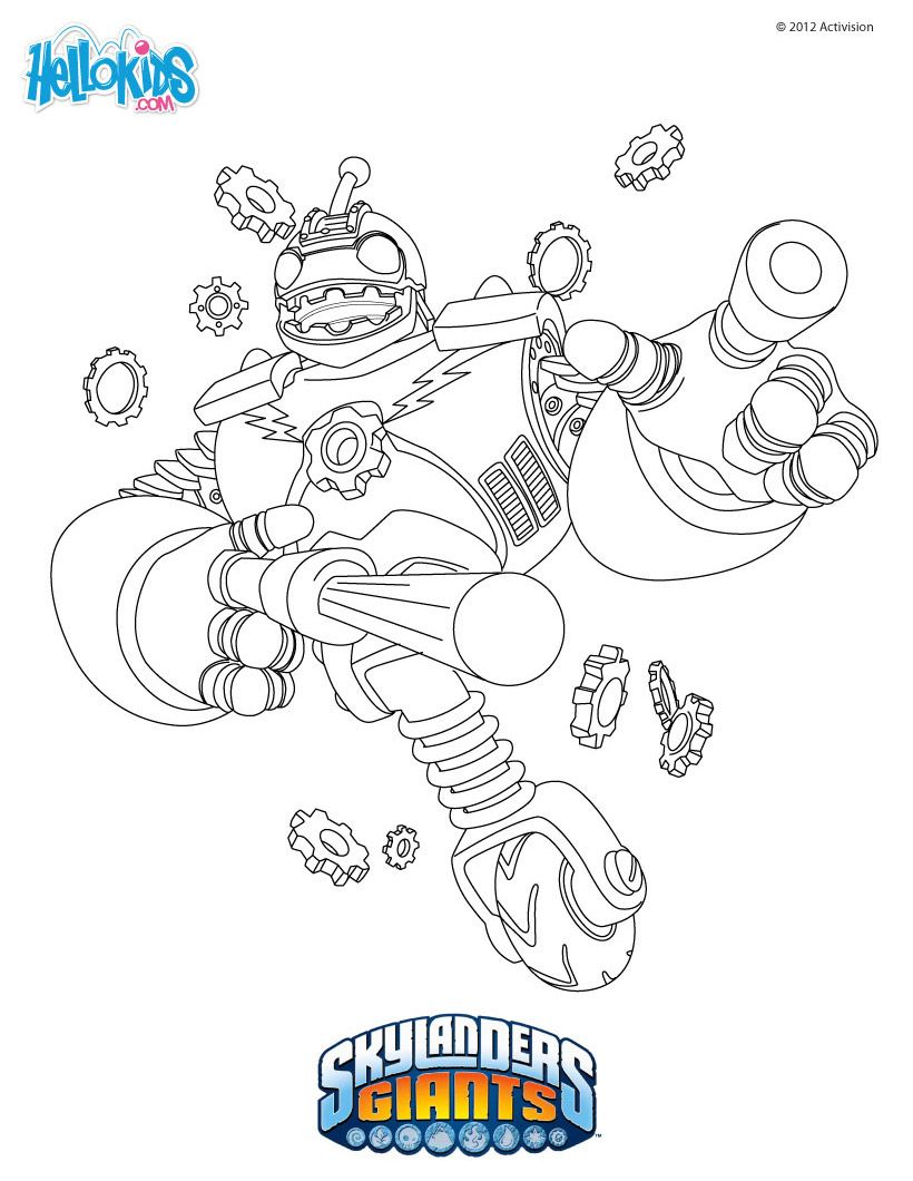 Skylanders Coloring Page Bouncer Coloring Pages Skylanders