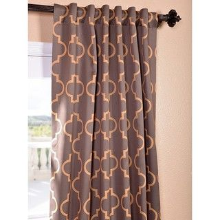 Seville Print Grey and Gold Blackout Curtain Panel   Overstock.com Shopping - Great Deals on EFF Curtains