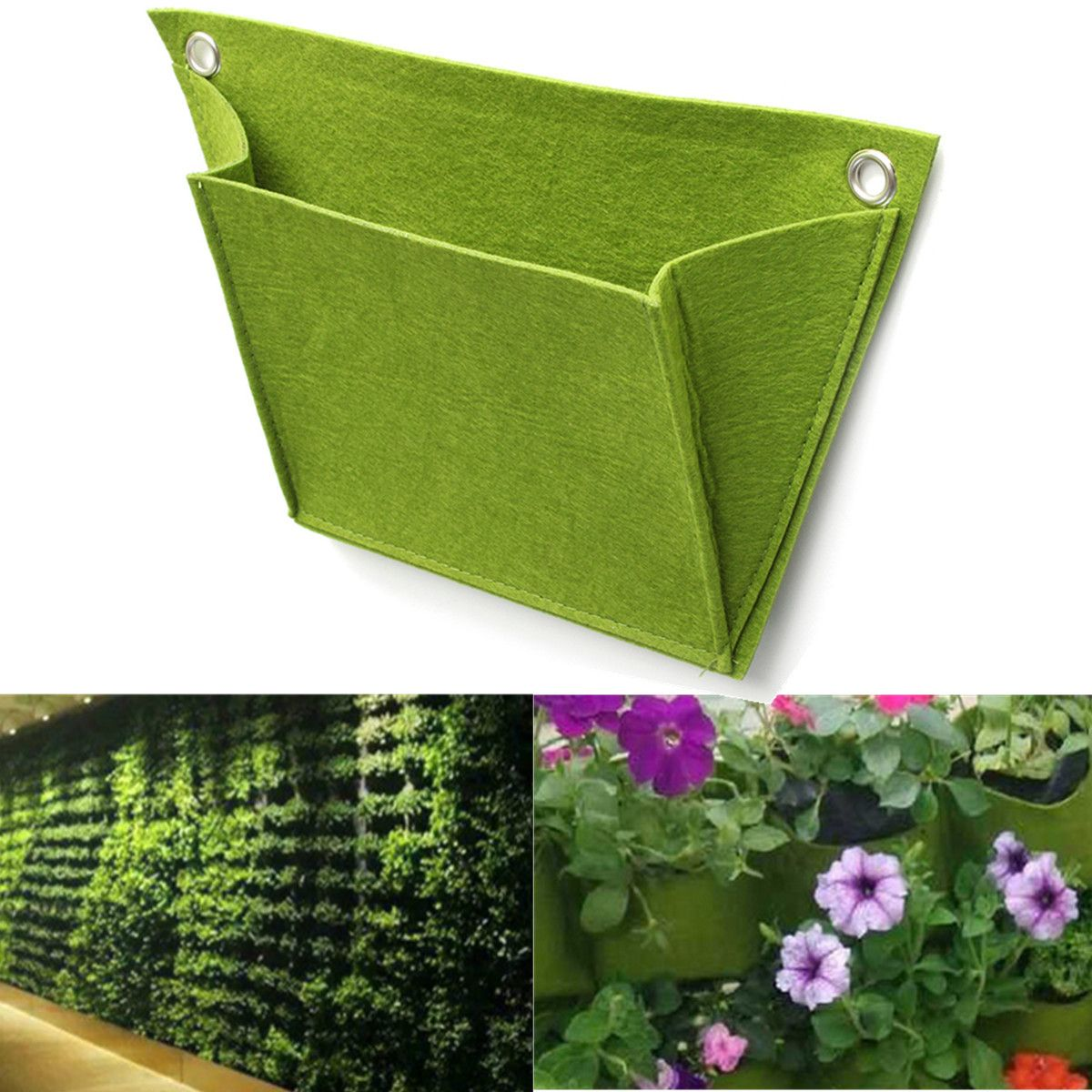 Vertical Gardening Hanging Wall 12 Pockets Planting Bags