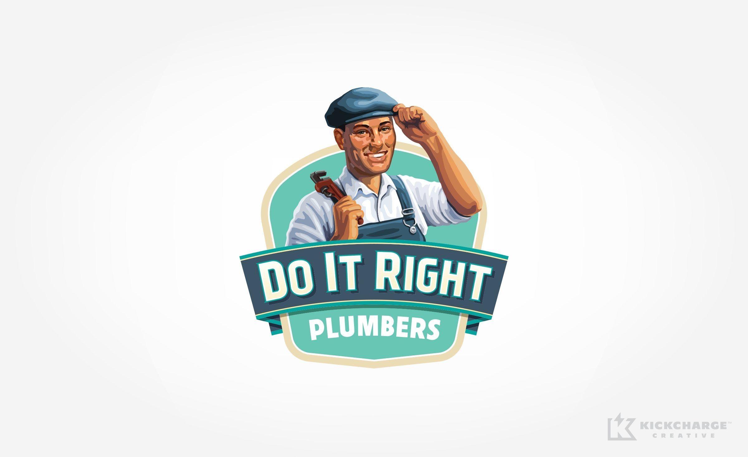 Logo design for do it right plumbers nj advertising