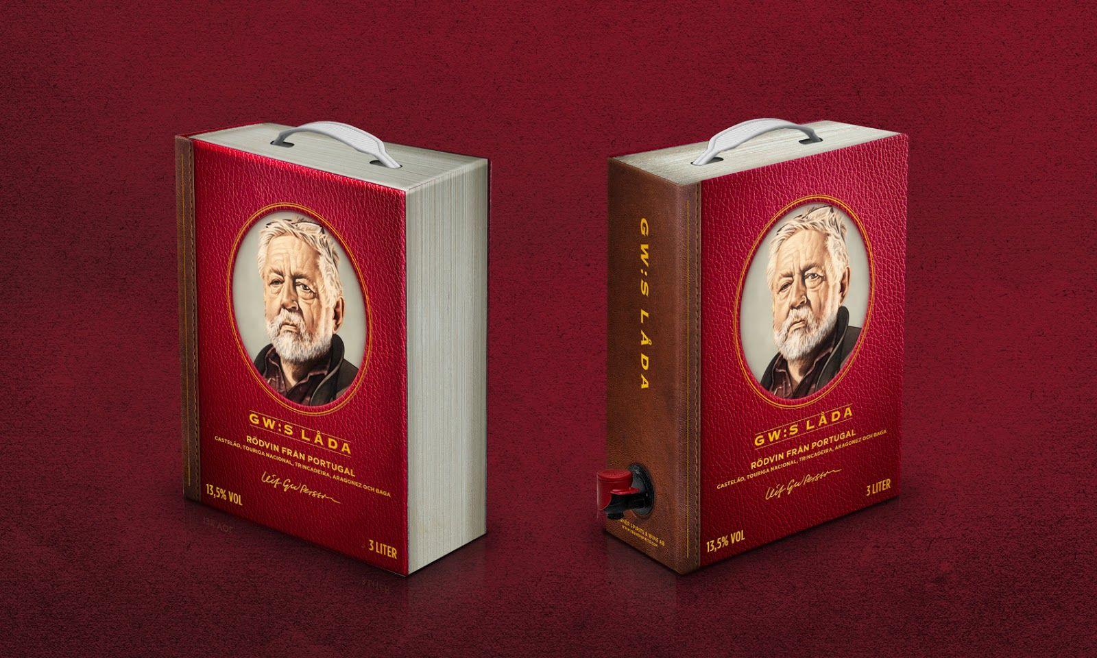 Gw S Bag In Book In 2020 Wine Packaging Design Creative Packaging Design Packaging Design Inspiration