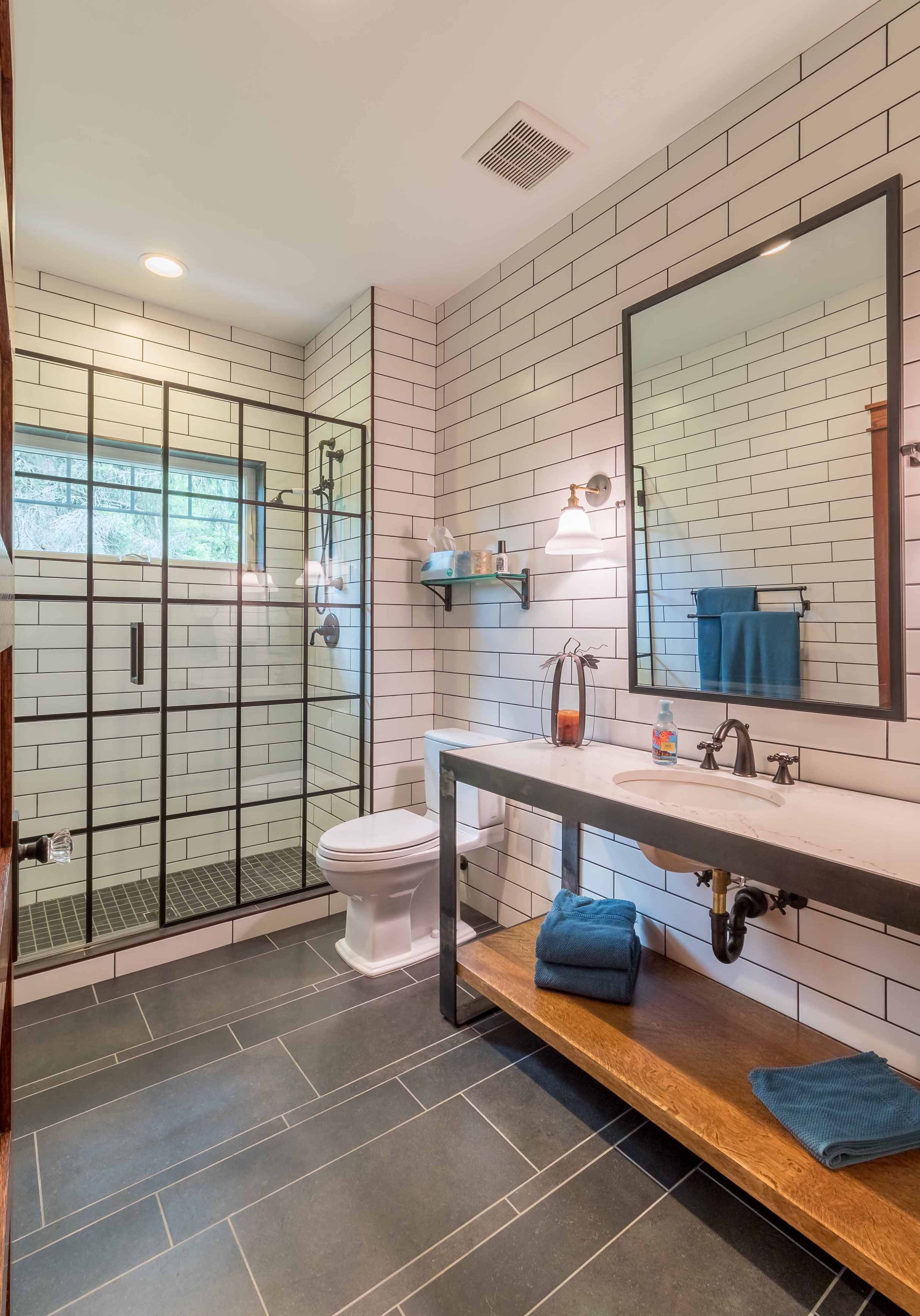 There's no better place to wash off a long week! #1212Architects #EveryDesignTellsAStory #LetUsTellYourStory #DownersGrove #DownersGroveArchitect #LakeGenevaArchitect #LauderdaleLakesArchitect #LakeWhisperer #SubwayTile #SteelShowerDoors #IndustrialChic #ShowerEnvy #CustomLakeHome #LakeLegacyHome #LegacyHome #LegacyAtTheLake #LakeLife #LakeLifeIsTheBestLife #LifeIsBetterAtTheLake #LuxuryLiving #LuxuryHomeDesign #NewHomeConstruction #CustomHome #DreamHome #BestofHouzz2020