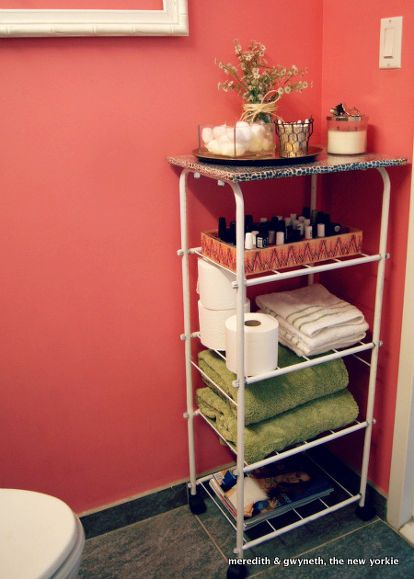 Dumpster Dive Diy Beauty Bar Cart Bathroom Storage Ideas Cleaning Tips Small