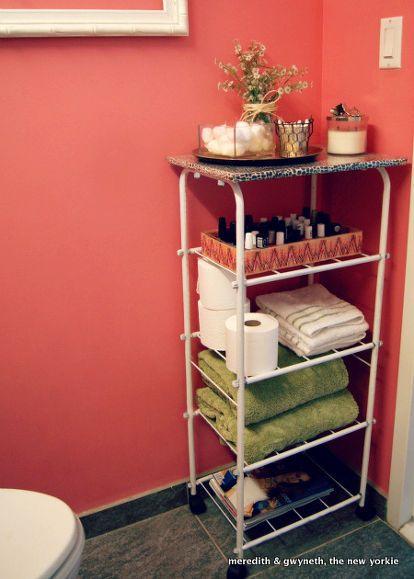 Dumpster Dive Diy Beauty Bar Cart Bathroom Storage  Dumpster Enchanting Small Bathroom Cart Decorating Design