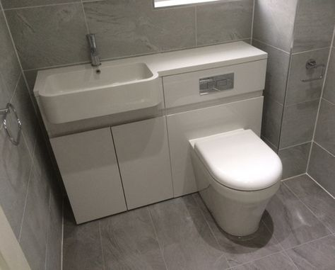 Combined Basin And Toilet Unit With Bathroom Installation In Leeds Toilet And Sink Unit Bathroom Installation Toilet And Basin Unit