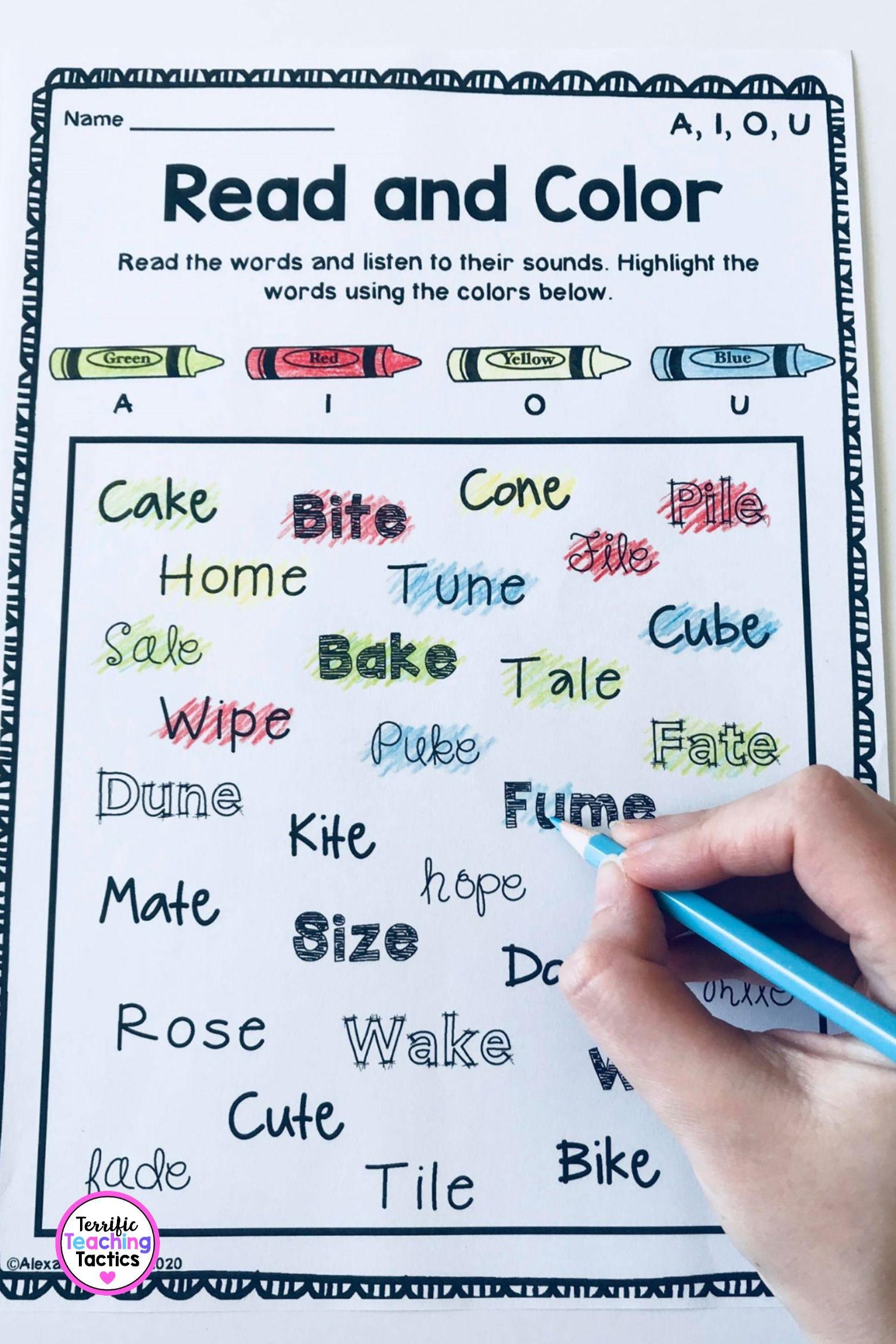 Long Vowel Worksheets A I O U Phonics Worksheets Phonics Cvc Words Phonics Words Phonics worksheets for older students