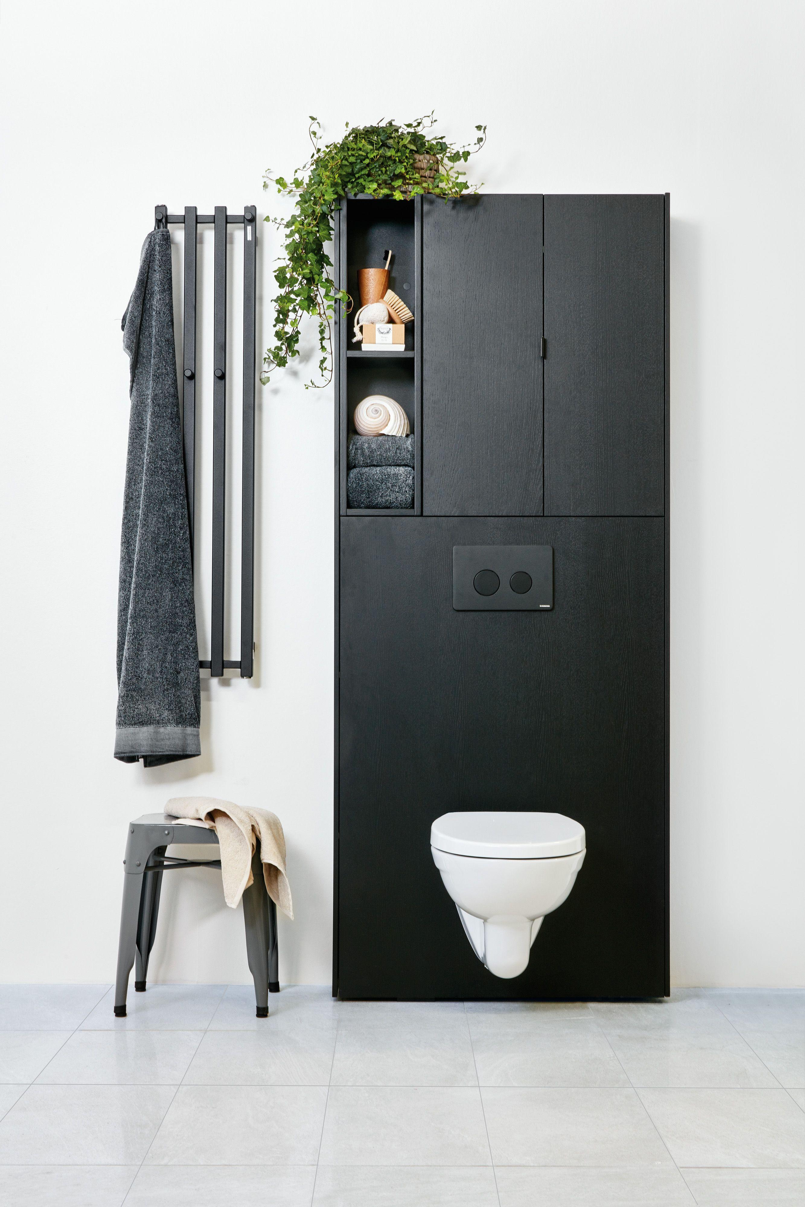 Bathroom Furniture Badrum Mobler Toalet Wc Toilet Black