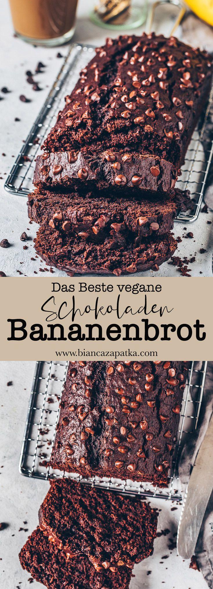 Das beste Vegane Schoko-Bananenbrot - Bianca Zapatka | Rezepte