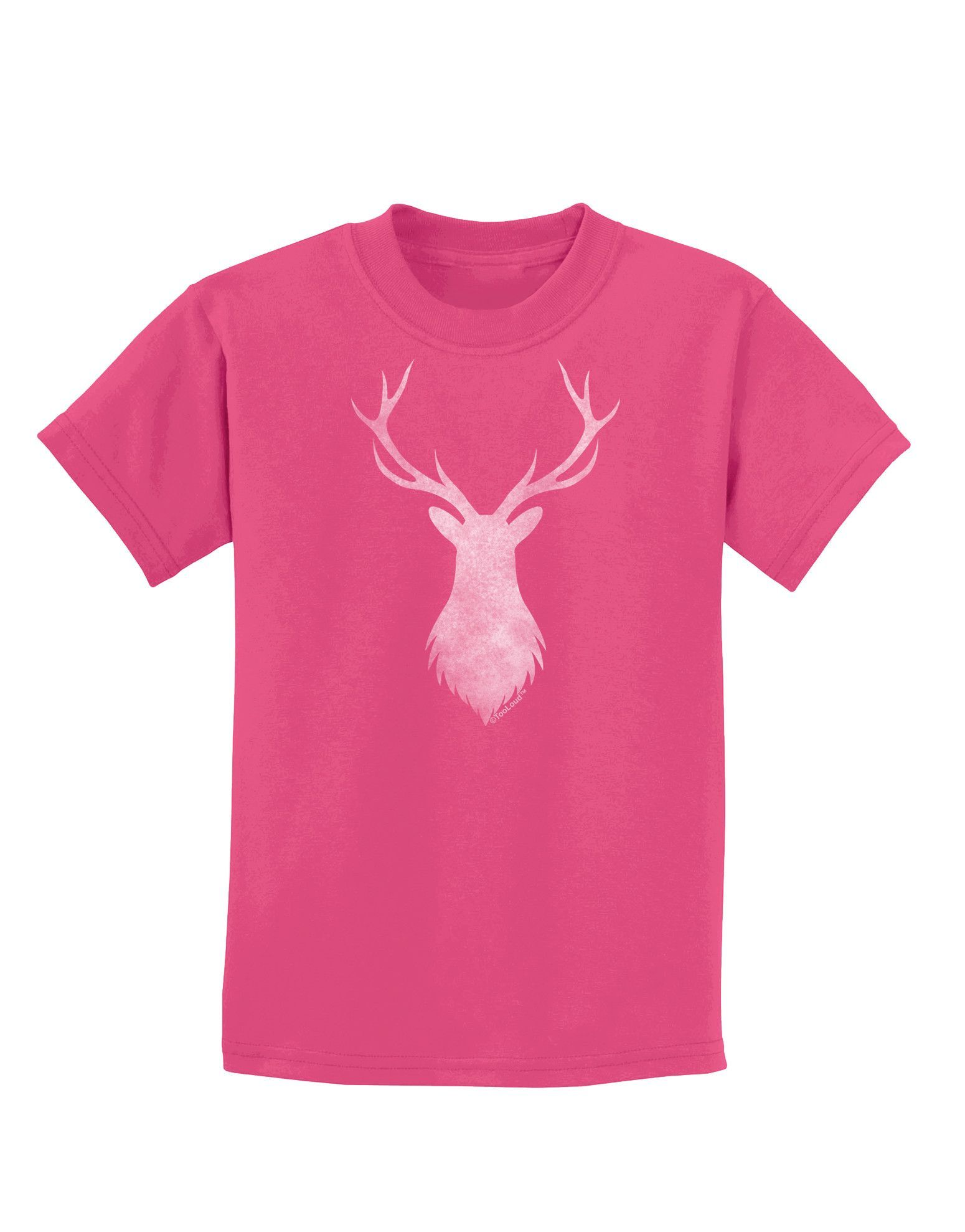 TooLoud Majestic Stag Distressed Childrens Dark T-Shirt