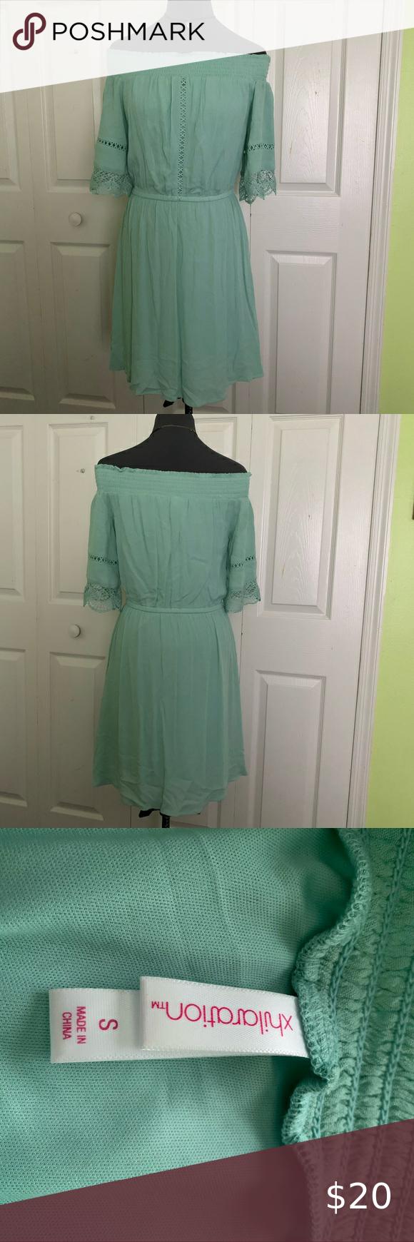 2 20 Target Xhilaration Mint Green Shoulder Dress Dresses Clothes Design Shoulder Dress [ 1740 x 580 Pixel ]