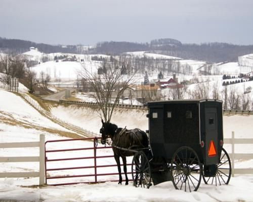 Amish Country Winter Scene In 2019 Amish Country Ohio