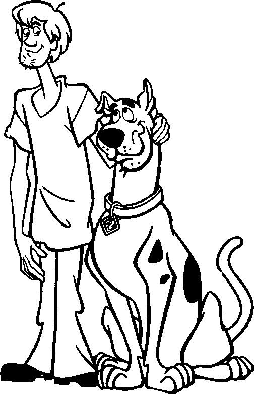 Scooby Doo And Shaggy Coloring Page | Scooby Doo | Scooby ...