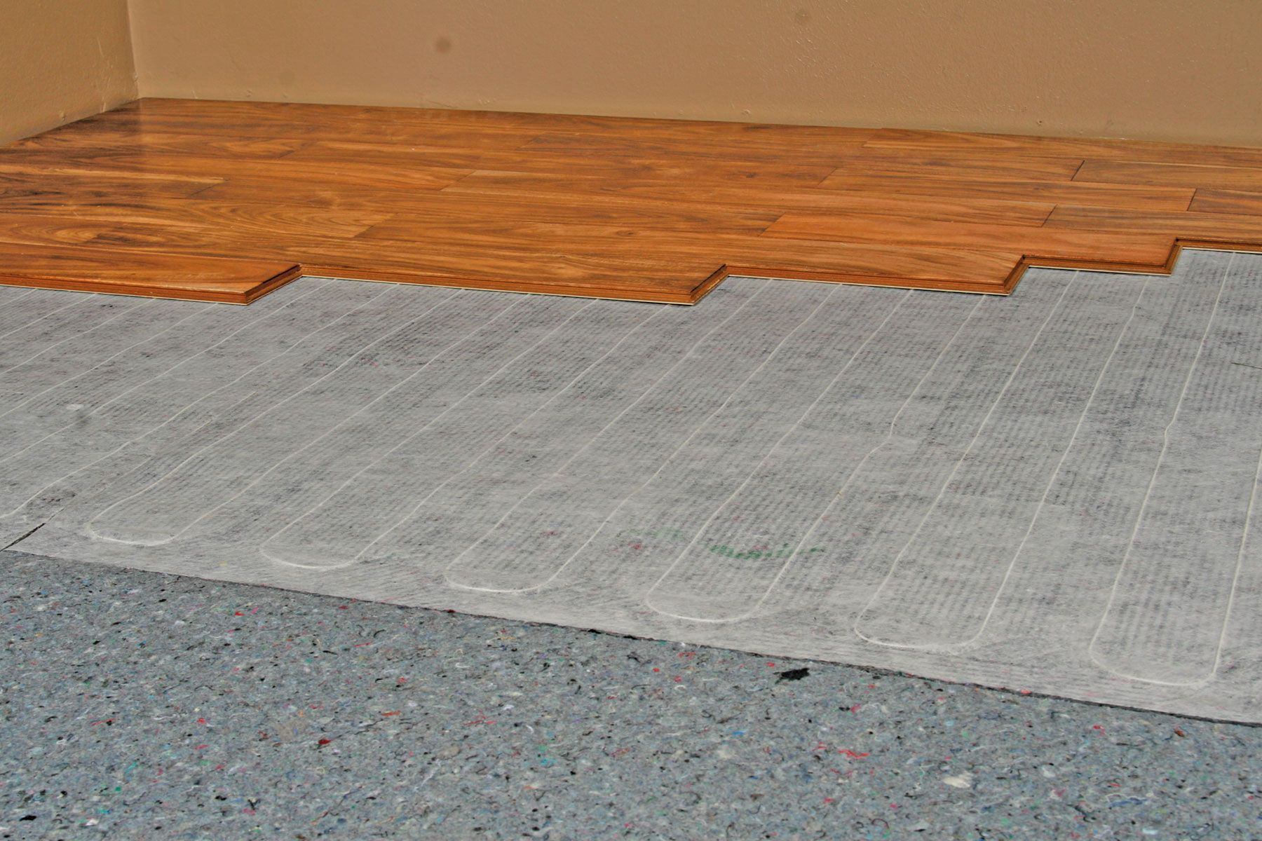 Quietwarmth combines acoustical and insulating technology with kitchen floors dailygadgetfo Gallery