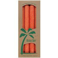 4 piece Aloha Bay Palm Tapers Unscented White Candles