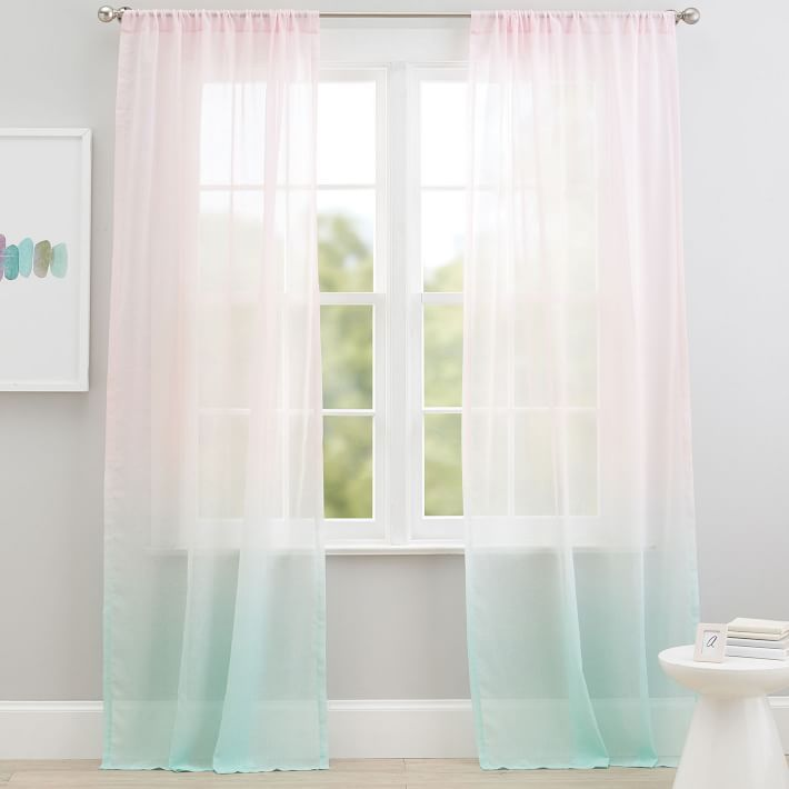 Popsicle Sheer Curtain Panel In 2020 Sheer Curtain Panels