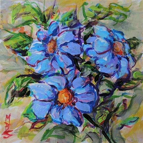 DPW Fine Art Friendly Auctions - Bundle of Blue by Mary Schiros