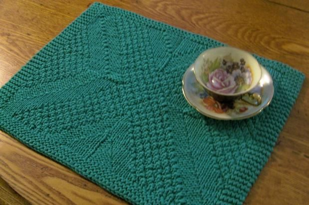 Reversible Knitted Placemat Homesteading Pinterest Placemat