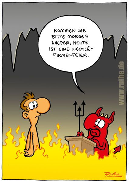 Weihnachtsfeier Cartoon.Hölle Teufel Firmenfeier Weihnachtsfeier Böse Nestle Mann Satan