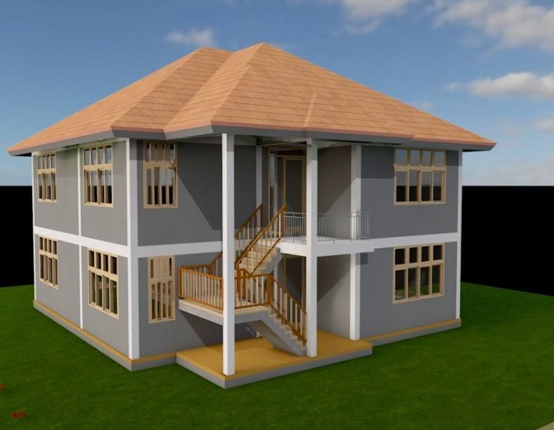 Two Bedroom 2 Story House Plan In Kenya Pdf Muthurwa Com House Plans Story House Contemporary House Plans