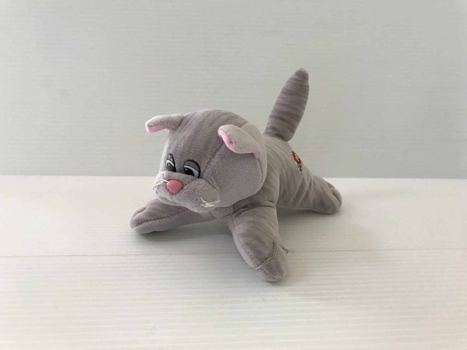 Pound Puppy Cat Vintage Pound Puppy Cat Grey Plush Cat Tabby Cat Small Pound Purries Cat Vintage Tonka Toy Pound Puppy Pound Puppies Tabby Cat Tonka Toys
