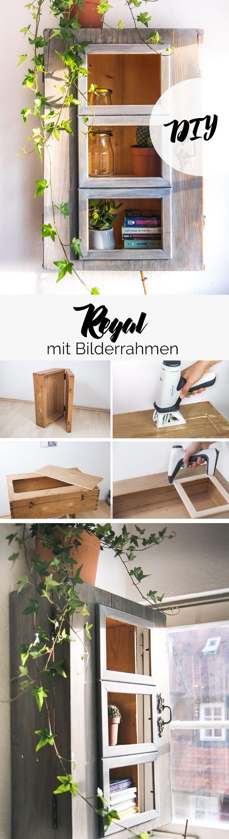 DIY Vitrinenschrank aus Holzmöbel & Ikea Bilderrahmen - einfach DIY ...