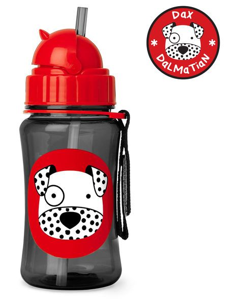 Skip Hop Kids Water Bottle With Straw Stainless Steel Sippy Cup Dog