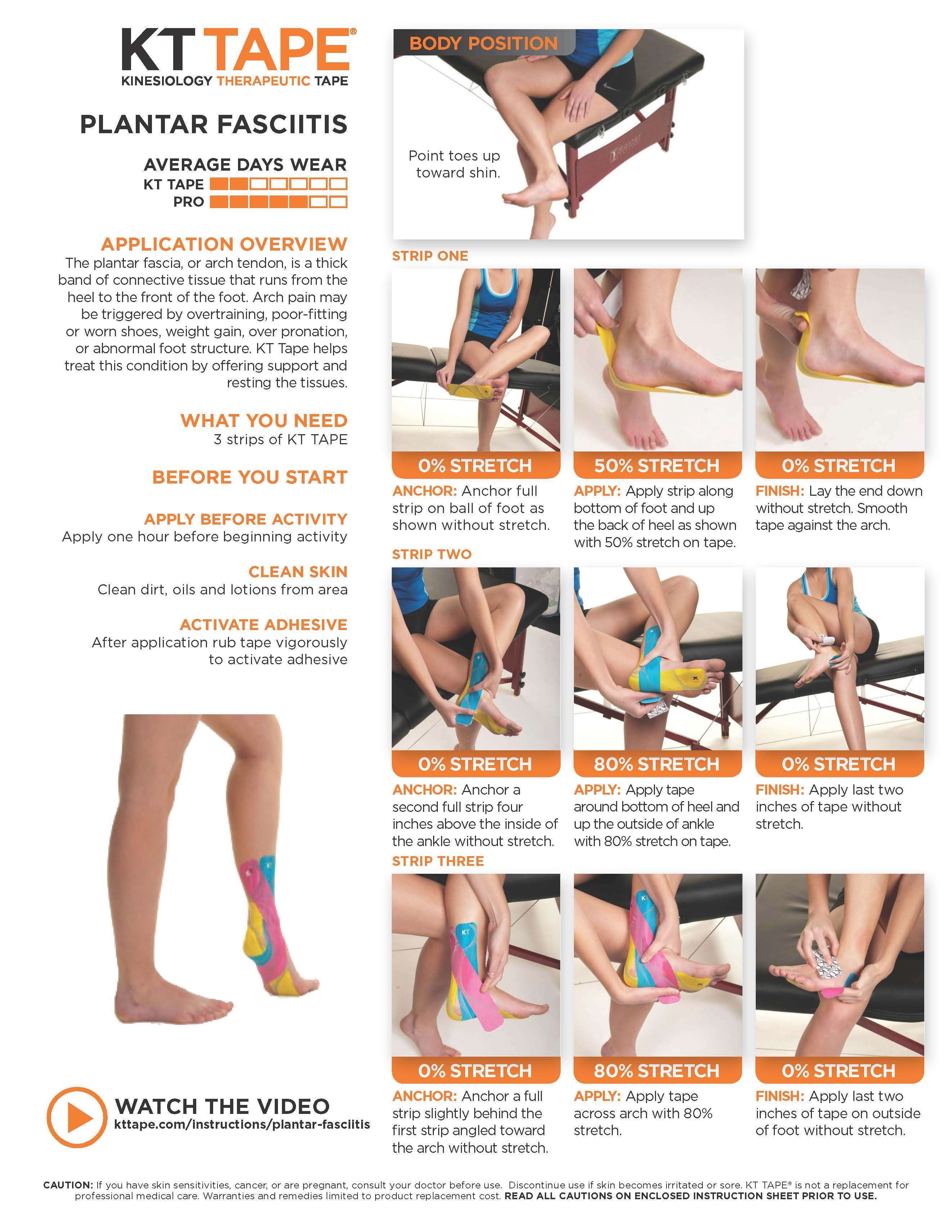 8f0bf132b8 Plantar Fasciitis - KT Tape | Feet | Kinesiology taping, Plantar ...