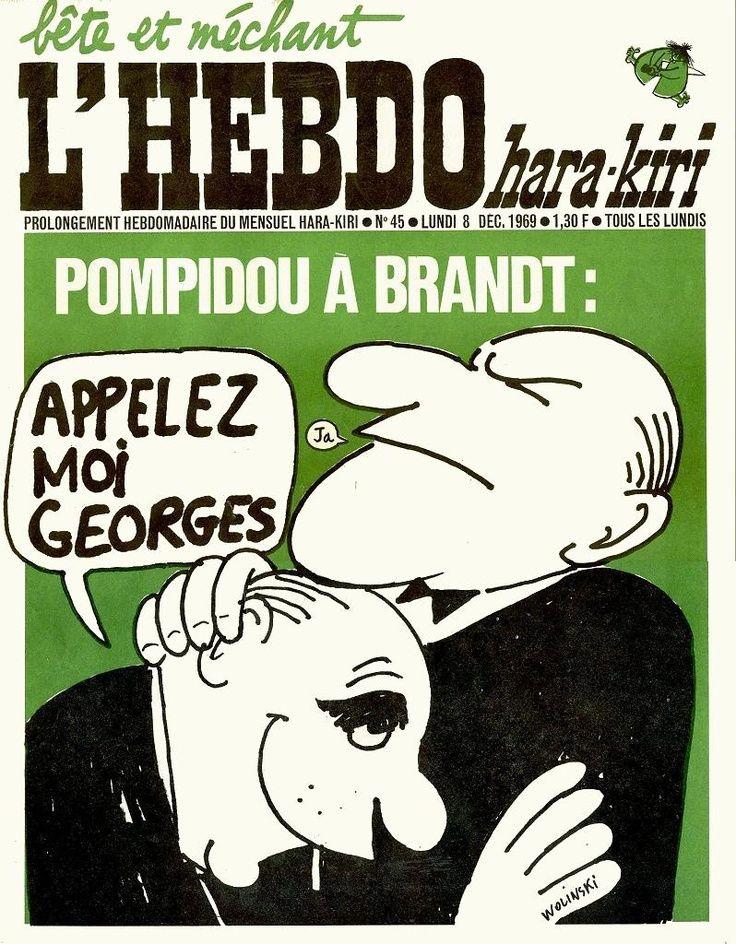 L'Hebdo Hara Kiri - # 45 - 8 Décembre 1969 - Couverture : Wolinski