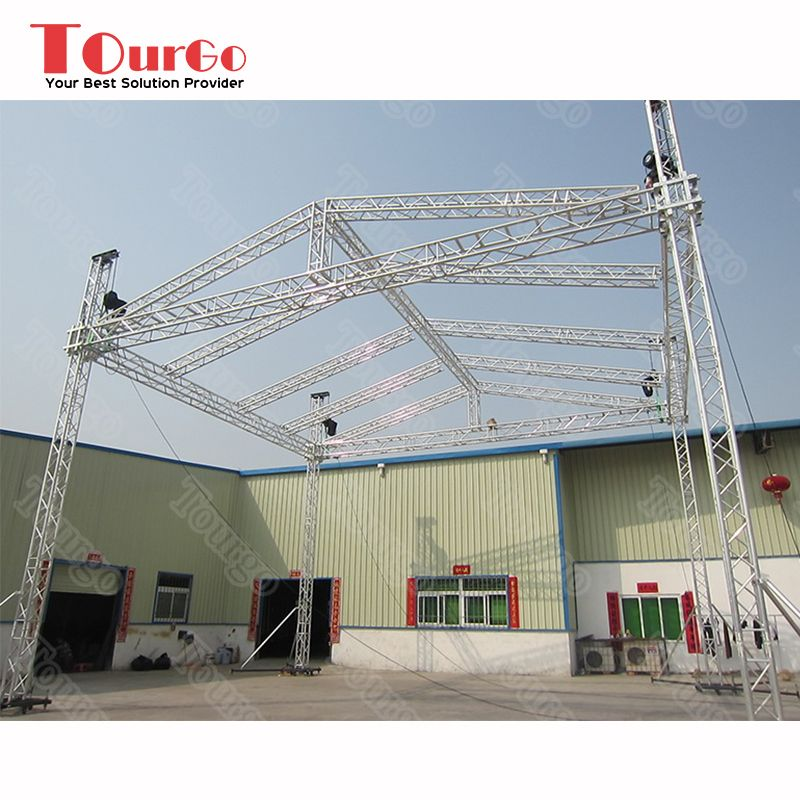 Tourgo Aluminum Arc Roof Truss Stage Truss With Exhibition Display View Concert Stage Roof Truss Tourgo Product Details From Shenzhen Tourgo Event Solution In 2020 Roof Trusses Exhibition Display Structure Design