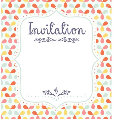 Invitation template vector by stolenpencil on VectorStock® Fun - invitation template