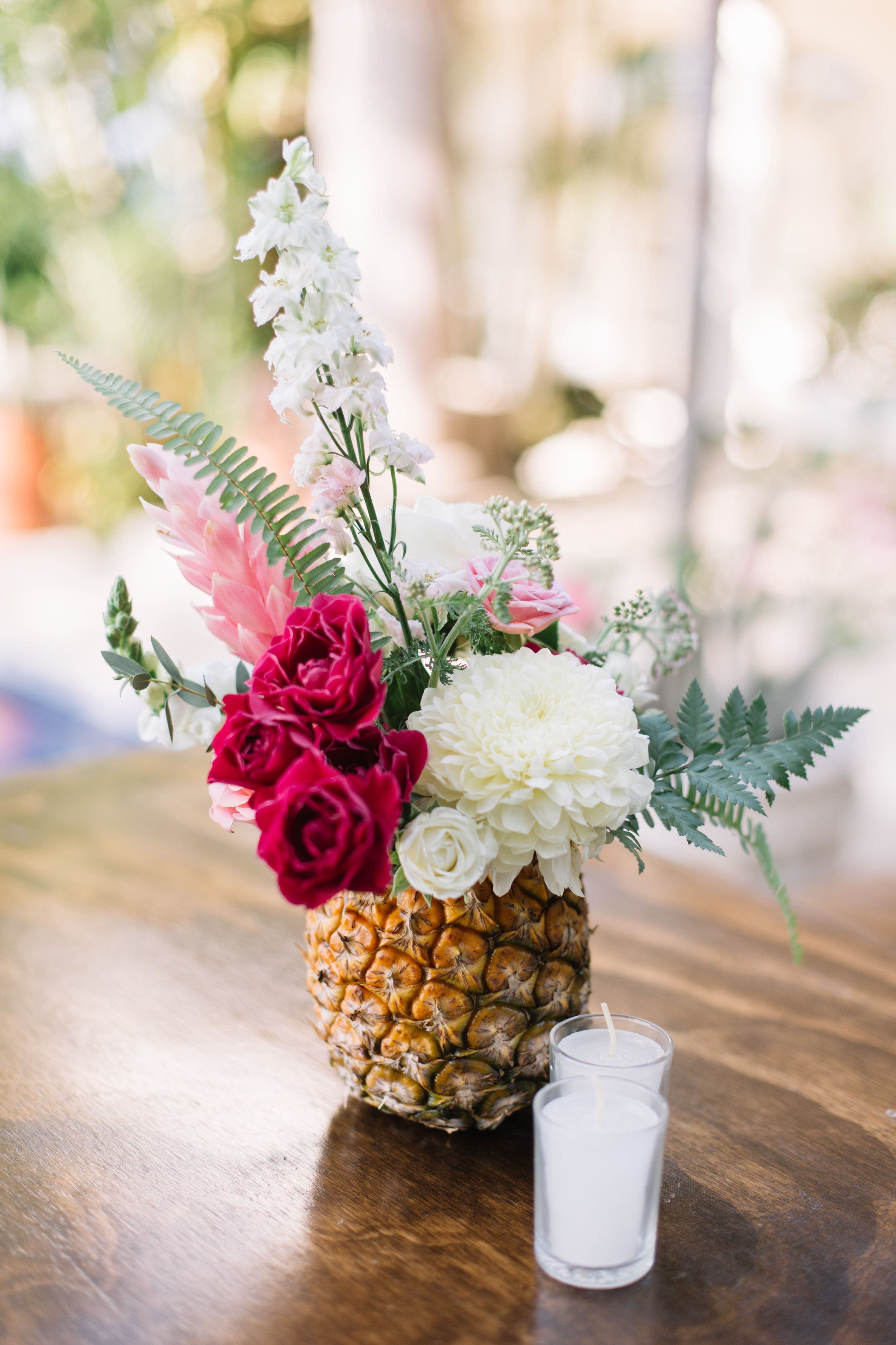 Kort And Sammie Gibson Wedding Tropical Wedding Centerpieces