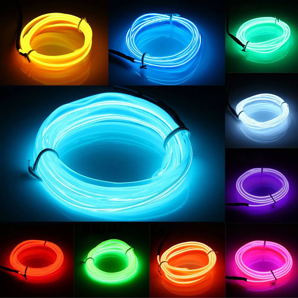 3M EL Wire Neon led Light Strips Hot Sale 9 Colors Illuminated ...