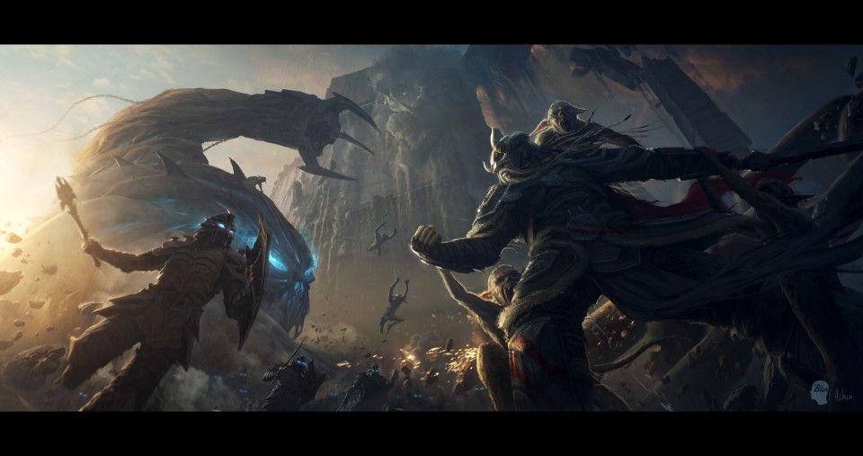 Elder Scrolls Online Nord Battle Concept Art Pinterest Elder
