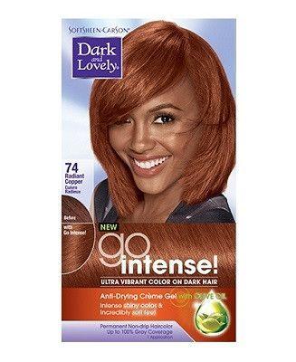Dark Lovely Go Intense Permanent Hair Color Natural Hair