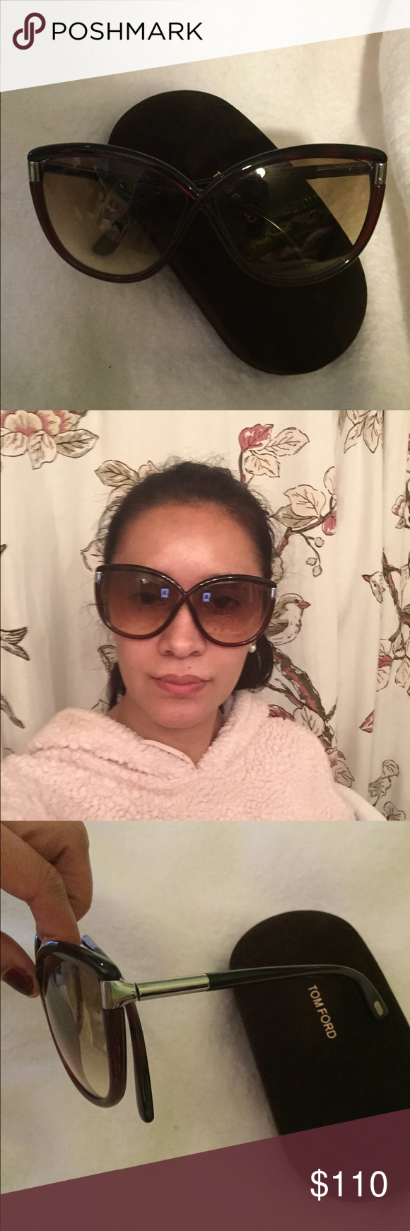 Sum glasses price is firm Tom ford TF 327 Abbey 52f dark red Havana classic  cat eye frame sunglasses brown gradient 63mm. Oversize ,plastic from Italy  color ... be9e3aca2df